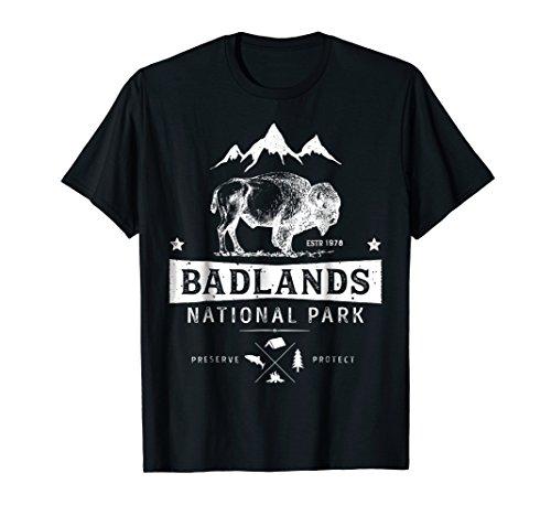 Badlands National Park T shirt Buffalo Bison South Dakota