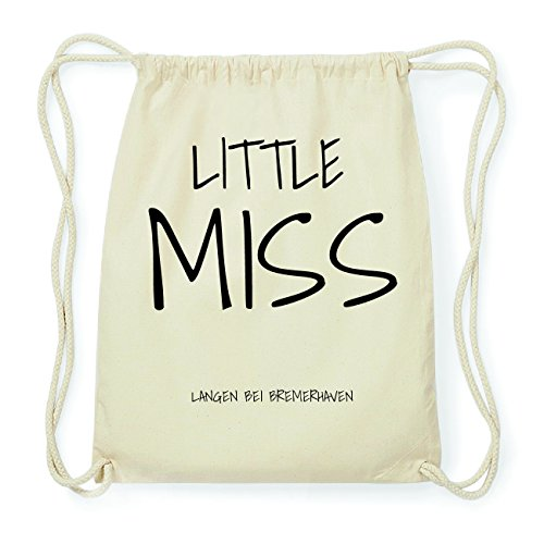 JOllify LANGEN BEI BREMERHAVEN Hipster Turnbeutel Tasche Rucksack aus Baumwolle - Farbe: natur Design: Little Miss s2KKYHR