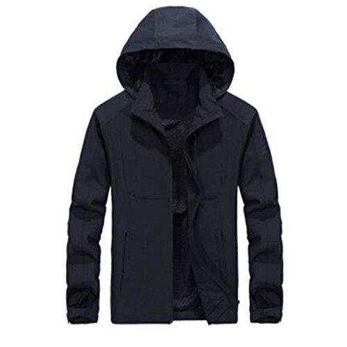 Traspirante Traspirante Impermeabile Overalls Black LAI Giacche Giacche Giacche WU Thin Outdoor Casual Spring Uomo zO8q1