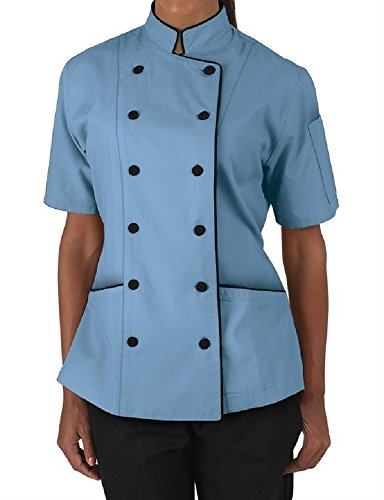 short-sleeves-womens-ladies-chefs-coat-jackets-by-chefs-apparels-s-for-bust-34-35-blue