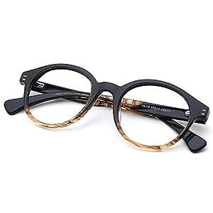 Slocyclub Round Shape Plate Frame Thin Optical Eyeglasses Classic Retro Style