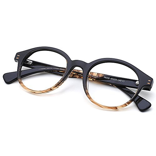 Slocyclub Round Shape Plate Frame Thin Optical Eyeglasses Classic Retro - Eyeglass Latest Frame