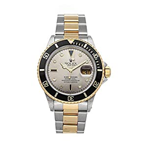 Best Epic Trends 41sveRihy-L._SS300_ Rolex Submariner Mechanical (Automatic) Steel Grey Dial Mens Watch 16613 (Pre-Owned)