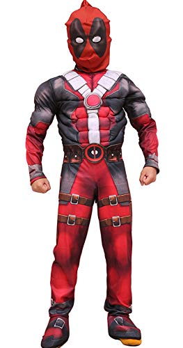 Deadpool Cosplay Halloween Costume Kids Roleplay Boys Outfits