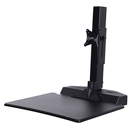 Standing Desk Riser, Freemaxdesk Electric Power Remote Control Height Adjustable Sit to Stand Desk Converter with Monitor Vesa Mount ,Worksuface(26''x21'') by freemaxdesk (Image #1)'