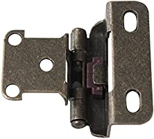 Probrico Cabinet Hinges Antique Bronze Self Close Variable Overlay 1//2 inch Overlay Face Mount Kitchen Cabinet Hinges Furniture Door Hardware 20 Pack 10 Pair
