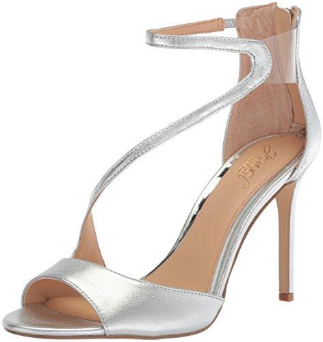 Sandalo Con Tacco In Argento Con Tacco Di Badgley Mischka Jewel Womens