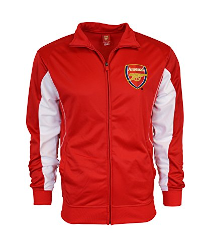 Arsenal Jacket Track RED Homme Soccer Adult Sizes Soccer Football Official Merchandise (L) (Authentic Football Jersey Sizes)