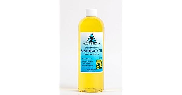 Amazon.com: Puro Aceite De Girasol orgánicos unrefined ...
