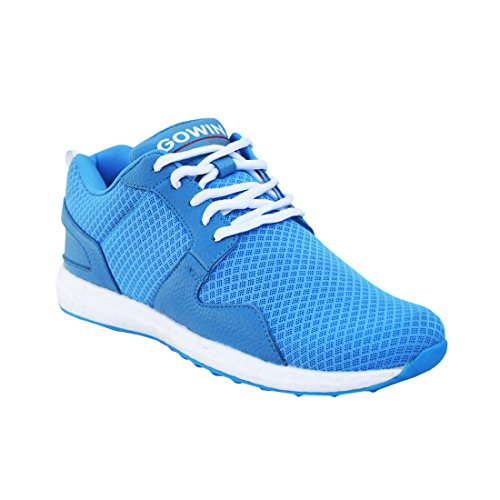 GOWIN by Triumph Thrust Mesh  amp; PU Jogging Shoes/Running Shoes Sky  Pack of 1 Pair
