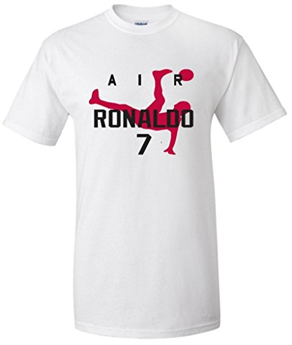 Air Ronaldo Cristiano Ronaldo Real Madrid T-Shirt (Adult Small, White)