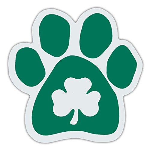 Refrigerator Magnet - Clover Dog Paw - Irish Green - Great Design For Irish Setters - 5.5