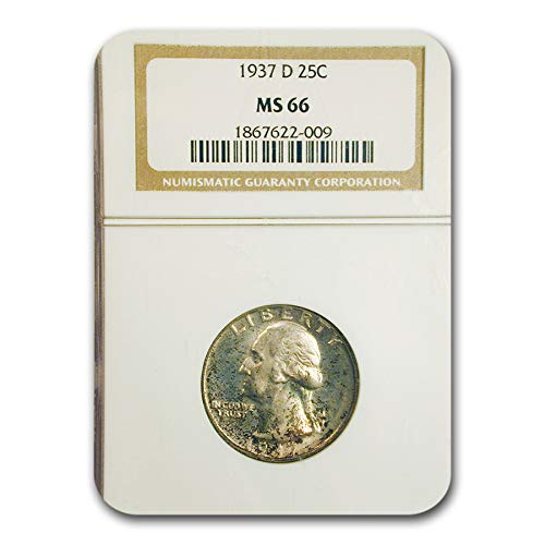 1937 D Washington Quarter MS-66 NGC Quarter MS-66 NGC