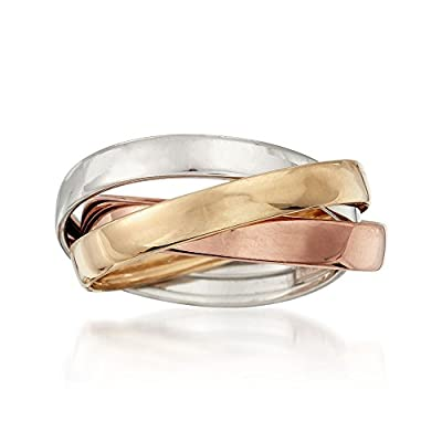 Ross-Simons 14kt Tri-Colored Gold Rolling Ring from Ross-Simons