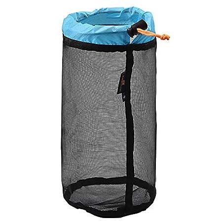 Bolsa de Malla para Camping Saco de cord/ón de Malla Ultraligero Reutilizable para Actividades al Aire Libre Senderismo Bolsa de Almacenamiento de Viaje