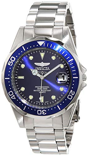Tone Silver Bracelet Invicta - Invicta Men's 9204 Pro Diver Collection Silver-Tone Watch