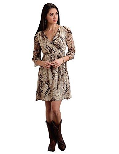 (Snake Print Chiffon Wrap Dress Stetson Ladies Collection- Fall I (m) 11-057-0590-0605WH)