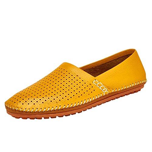 Amarillo1 Zapatos Diario Hombre Casual Loafer Zapatos Moda Negocio Dooxi Mocasines Planos w6aIvqq