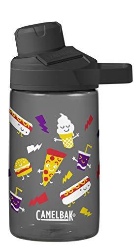 CamelBak Chute Mag Water Bottle - BPA-Free Water Bottle - Magnetic Handle - Ergonomic Spout - Wide Mouth Opening - Water Bottle - Easy to Carry Handle - 0.4 to 1.5 Liters, 12 oz, Fun Food Friends