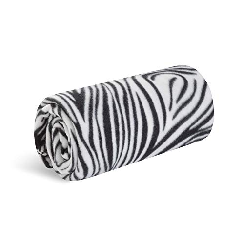 World's Best Cozy-Soft Microfleece Travel Blanket, 50 x 60 Inch, Zebra, Great for Travel or Lounging at Home (Zebra Throw Blanket)