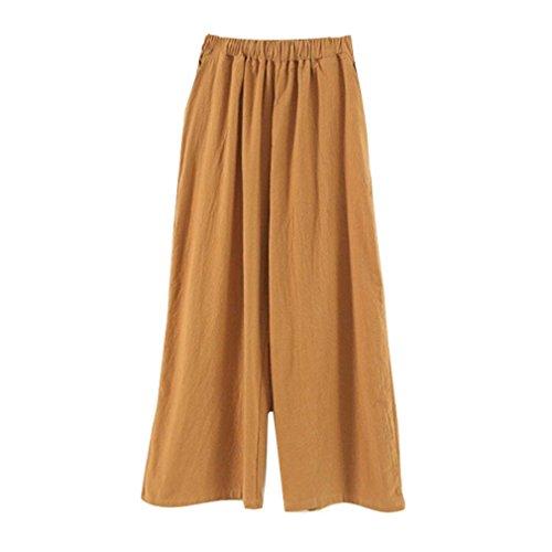 Pantaloni Pantaloni Casual Ufficio Ragazza Estivi Elastica Vita Primaverile Moda Pantaloni Trousers Pantaloni Di Stoffa Lunga Dritti Con Tasche Chic Eleganti Donna Abbigliamento Colour Larghi 1 Waist High a1nqxZt7ra