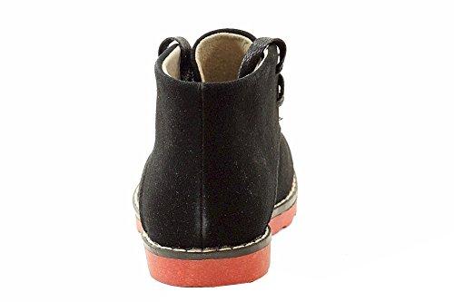 Easy Strider Boys The Chukka Booties Fashion Boot Scarpe Scuola Uniforme Nere