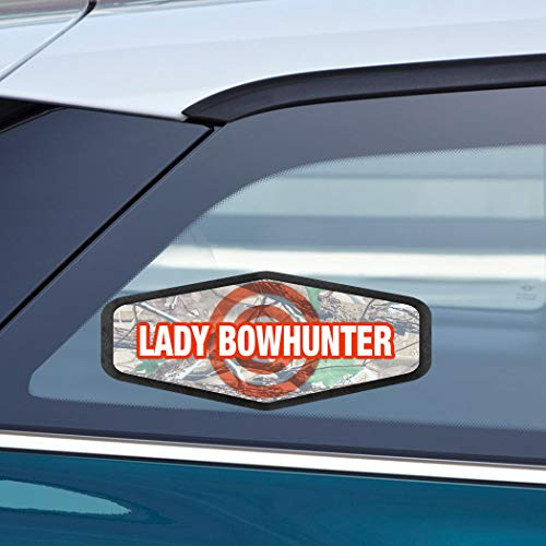 (Makoroni - LADY BOWHUNTER Hunters Hunting Car Laptop Wall Sticker Decal - 3.5'by8'(Small) or 4'by10'(Large))