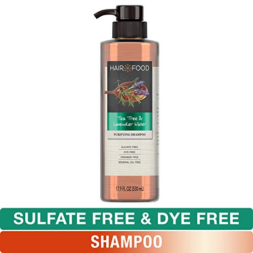Vanilla Jasmine Shampoo Conditioner - Sulfate Free Shampoo, Dye Free Purifying Treatment, Tea Tree and Lavender, Hair Food, 17.9 FL OZ