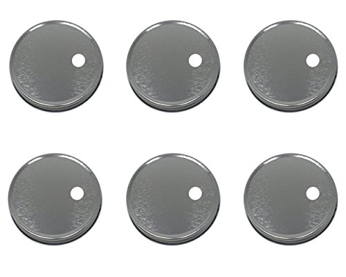 Jarming Collections Reusable Regular Mouth Mason Jar Lids with Straw Hole 10mm (Larger Opening for All Kinds of Straws) Set of 6 (Silver, Regular Mouth)
