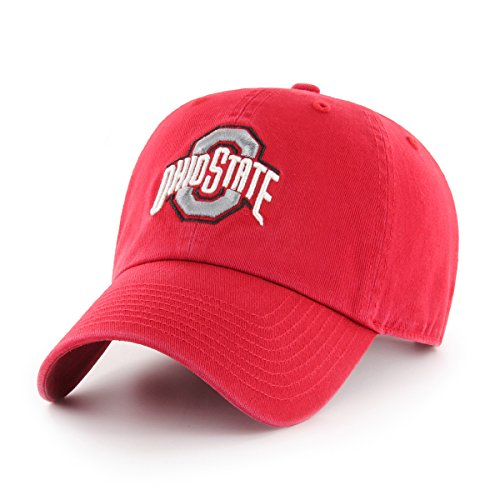 OTS NCAA Ohio State Buckeyes Women's Challenger Clean Up Adjustable Hat, Red (State Basketballs Ohio)