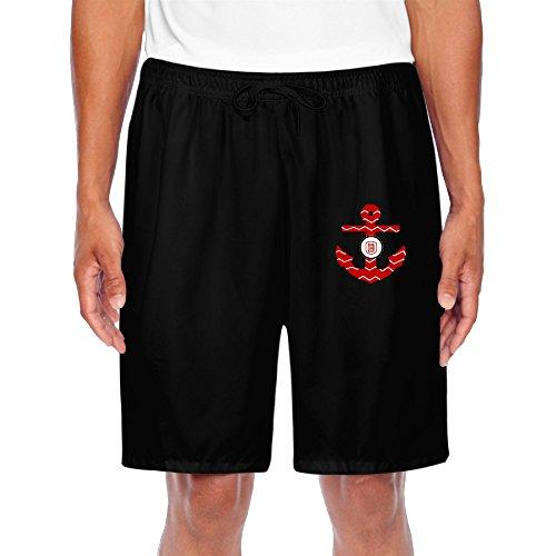 ZOENA Men's Awesome Bradley Braves Chevron Anchor W Logo Shorts Black Size XXL ()