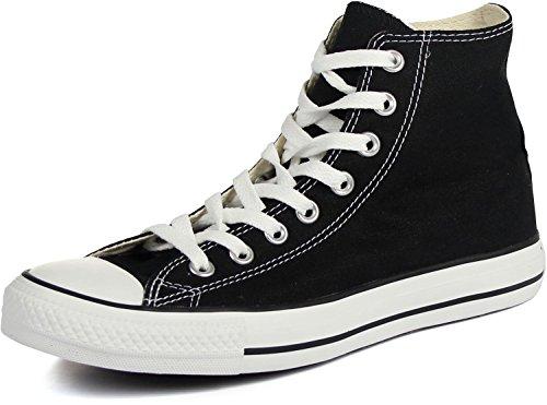 Converse Unisex Chuck Taylor All Star Sneakers Alte Nero / Bianco, Uomo Uomo 8 / Donna 10