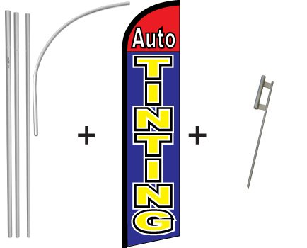 Auto Tinting Windless Banner & Pole Kit