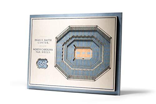 NCAA North Carolina Tar Heels 5-Layer Stadiumviews 3D Wall Art