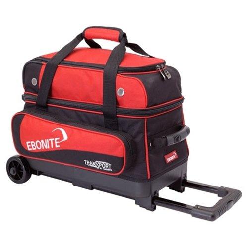 Ebonite Transport II Bowling Ball Bag, Black/Red by Ebonite