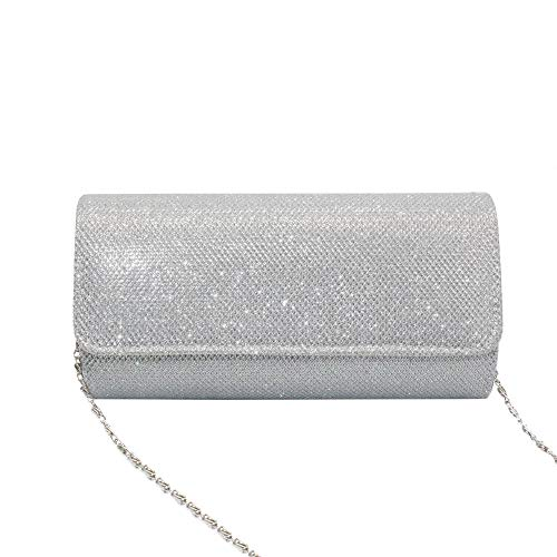 20bc4bcc4ff3ab ... Women's Evening Clutch Bag Full Rhinestones Party Prom Wedding Purse  Carrying,NszzJixo9 (Sliver) ...