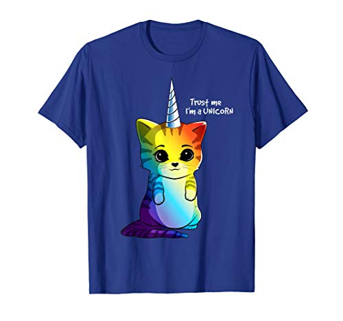 Caticorn T shirt Unicorn Cat Meowgical Kittycorn Rainbow -