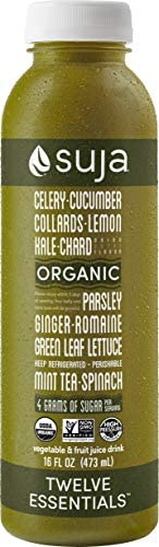 Suja Organic and Cold-Pressured Green Juice Drink, Twelve Essentials, 16 oz