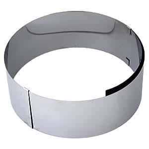 Molde anillo para tartas, acero inoxidable, ajustable hasta 30 cm