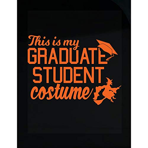 Funny Grad Student Costume for College Students Funny Halloween Design - Transparent Sticker