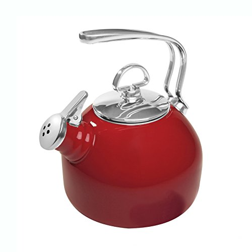 (Chantal Enamel on Steel Classic Teakettle, Chili)