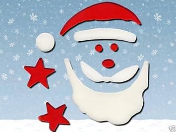 Décoration de fenêtre en gel , Père Noël , 10 pièces