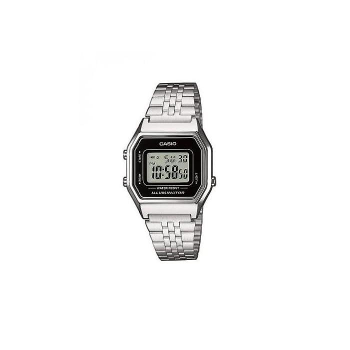 41svnG4UCaL Incluye cronómetro, alarma diaria, calendario automático y formato de 12 o 24 horas Caja de resina y correa de acero inoxidable con cierre ajustable La duración de la batería es de 5 años