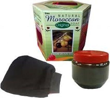 Jabón negro natural marroquí Al Kassal Hamam de 250 g, con aceite
