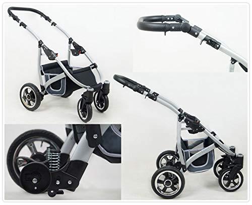 Lux4Kids Kinderwagen 3 in 1 Kombi Komplettset mit Autositz Isofix 2in1 Babywanne Babyschale Buggy Buggy Baby Larmax Schwarz /& Lila 2in1 ohne Babyschale