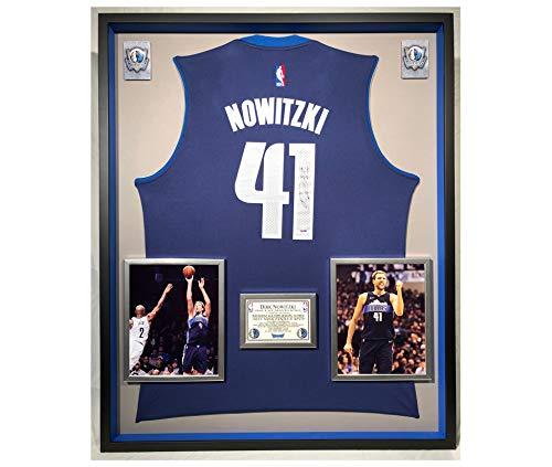 Premium Framed Dirk Nowitzki Autographed/Signed Dallas Mavericks Adidas Jersey - PSA COA