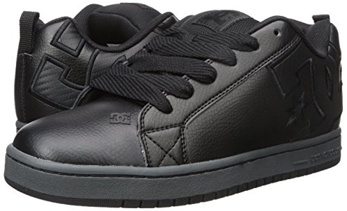 DC Men's Court Graffik SE Skate Shoe, Black 3, 10.5 M US
