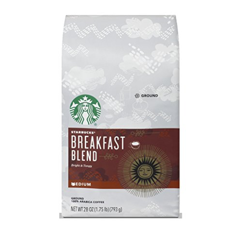 Starbucks Breakfast Blend Medium Roast Ground Coffee, 28 Ounce (Pack of 1) bag