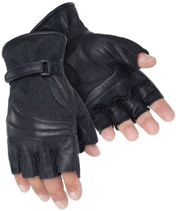 Tourmaster Gel Cruiser II Fingerless Gloves (SMALL) (BLACK)