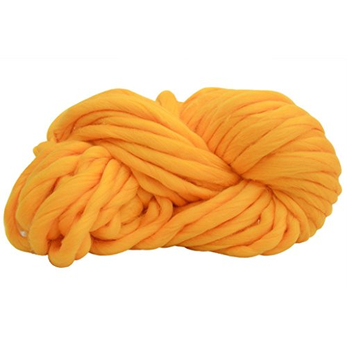 Makaor Soft Knitting Wool Yarn Super Bulky Arm Wool roving Crocheting DIY Length : 35.2M (±2M), B